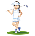 golfer with golf club vector image vector image