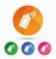 Graffiti spray can sign icon Aerosol paint vector image vector image