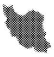 halftone pixel iran map vector image