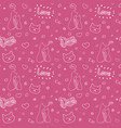 hand drawn seamless pattern with cats vector image vector image