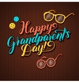 Happy Grandparents Day Calligraphy Greeting Card vector image