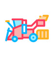harvester machine icon outline vector image vector image