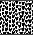 heart silhouette seamless pattern vector image vector image