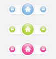 home button with arrow vector image vector image