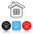 home icon colored icons with house vector image vector image