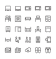 Hotel Outline Icons 7 vector image vector image