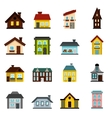 House icons set flat style vector image vector image