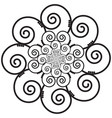 Indian Henna Tattoo Swirly flower Inspired vector image vector image