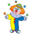 juggling cartoon clown vector image