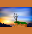 landscape cliff on mountain in morning vector image vector image