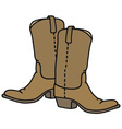 Leather jackboots vector image vector image