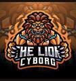 lion cyborg esport mascot logo design vector image vector image