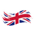 national flag of the united kingdom designed vector image vector image