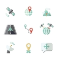 Navigation icons set vector image