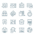 Office Life Icons Collection vector image vector image