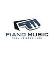 piano logo design letter p vector image vector image