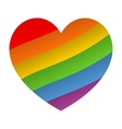 Rainbo heart icon vector image