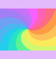 rainbow twisted spiral background vector image vector image