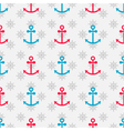 seamless sea pattern with anchors and hand wheels vector image vector image