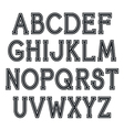 Serif font with contour vector image