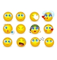 set emoji emoticons face icons isolated vector image vector image