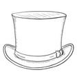 single sketch cylinder hat vector image vector image