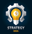 Strategy idea vector image vector image