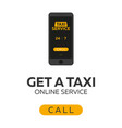 taxi service mobile app for booking service taxi vector image vector image
