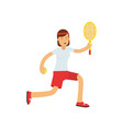 teen girl playing tennis active lifestyle vector image