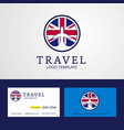 travel united kingdom creative circle flag logo vector image