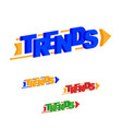 trends word arrow direction uptrend vector image vector image