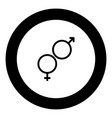 venus and mars symbol the black color icon in vector image vector image