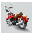 vintage black classic motorcycle cartoon vector image