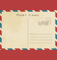 vintage classical postcard design vector image vector image