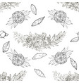 vintage peony pattern vector image vector image