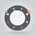 Web circle menu vector image