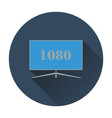 Wide tv icon vector image