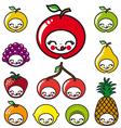 happy fruits faces vector image