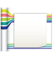 Abstract straight lines with white paper vector image vector image
