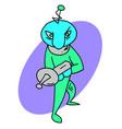 alien invader vector image vector image