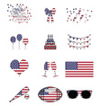 American celebration and symbols vector image vector image