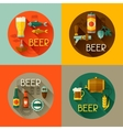 Backgrounds with beer icons and objects in flat vector image vector image