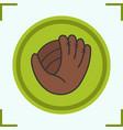 baseball glove color icon