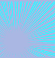 blue rays pop art background vector image