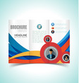 brochure design template4 vector image vector image