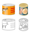 can and food icon vector image vector image