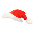 cartoon of santa red hat isolated on vector image vector image