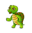 cartoon turtle isolated vector image vector image