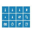 Chess icons on blue background