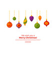 christmas decorations card template vector image